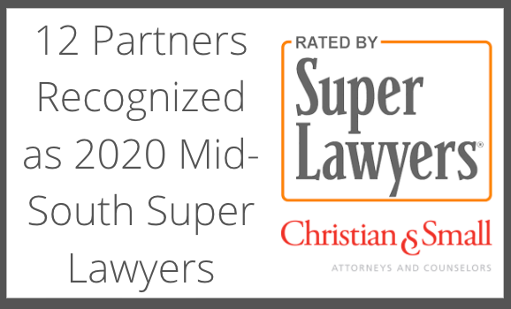 15 Attorneys Recognized by 2020 Mid-South Super Lawyers®